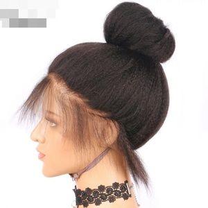 Yaki Straight 360 180% lace wig Remy Human Hair